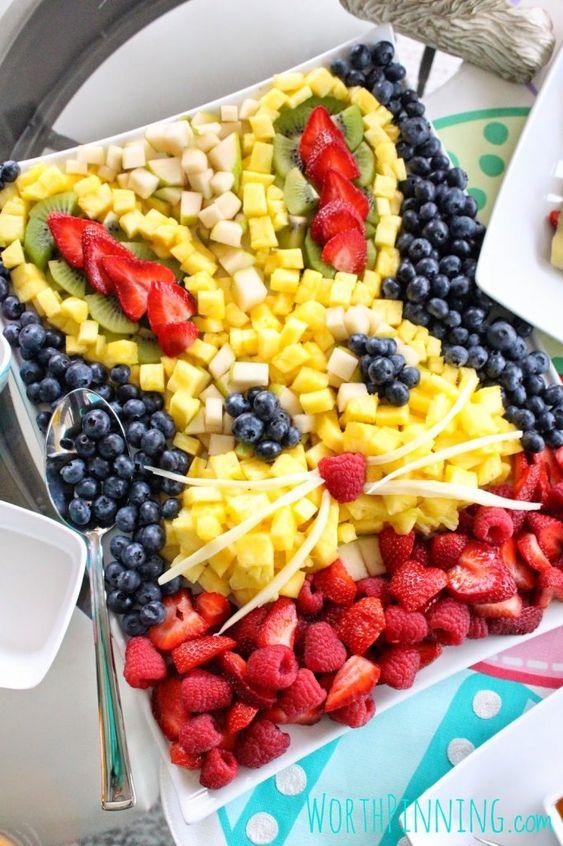Bunny Head fruit tray || Cute Easter Recipes || Dessert, appetizer, snack, healthy - www.nikkisplate.com