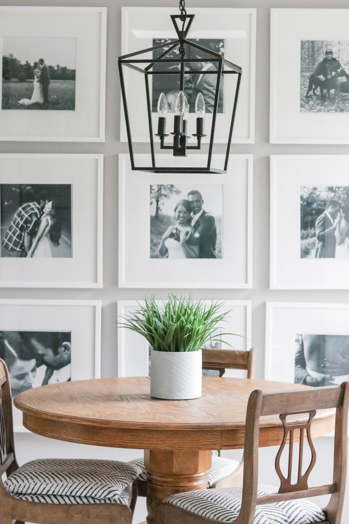 If you're looking for easy photo gallery wall tips and tricks, check out these tips on how we put together our own photo gallery wall!