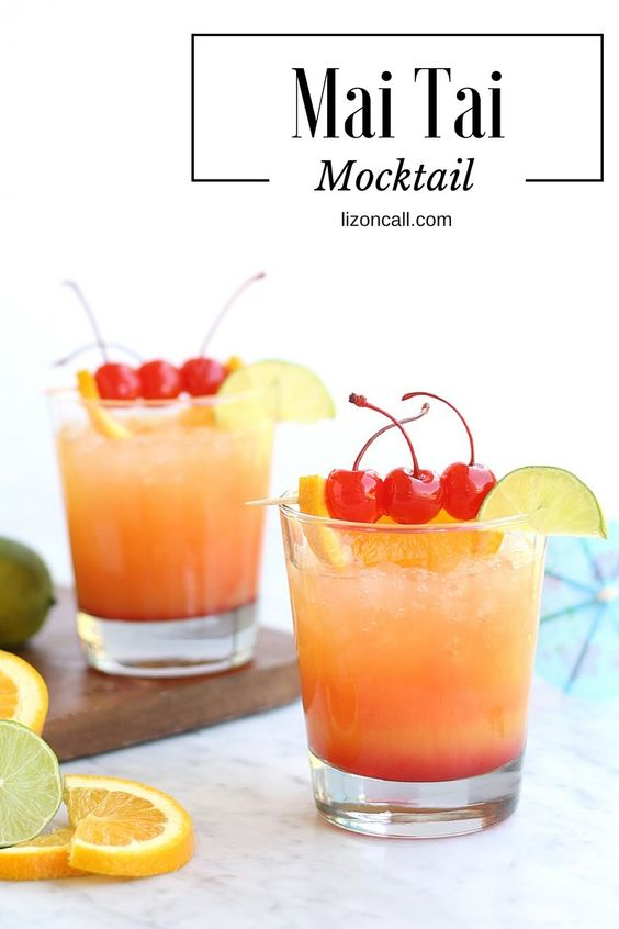 9 Fun Non-Alcoholic Mocktails you can enjoy this summer and not regret the next day!  - Mai Tai Alcohol Free Cocktail