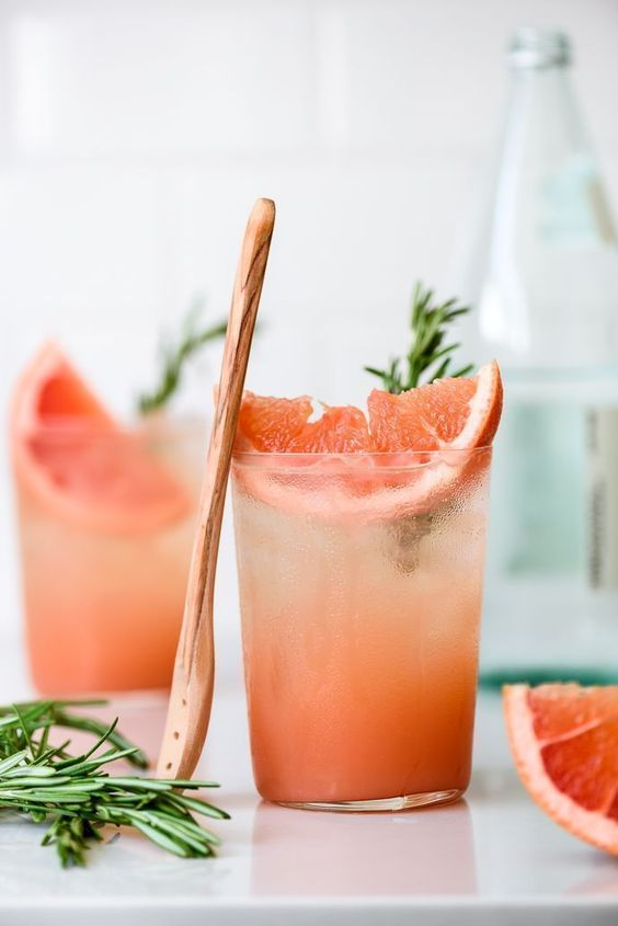 9 Fun Non-Alcoholic Mocktails - Honey Rosemary Grapefruit soda is a sweet, citrus blend with fizzy soda. It's refreshing and light, perfect for a poolside day!