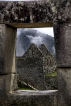 Mystisches Machu Picchu - Ruinen in den Anden.