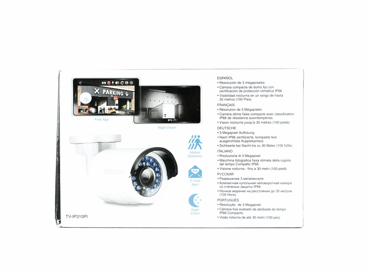Trendnet Tv Ip310pi Outdoor 3 Mp Poe Day Night Network