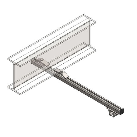 Support bracket assembly (underside mounting), stainless