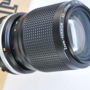 Nikon Nikkor 35-105mm 3.5-4.5 AIS sehr solide verarbeitet, hervorragende Bildqualität, deckt den gesamten Brennweitenbereich ab, TOP Zustand A/A+