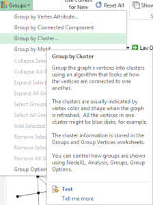 NodeXL – Group by Cluster