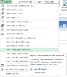 NodeXL Import Twitter Data
