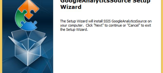 SSIS GoogleAnalyticsSource 1.7