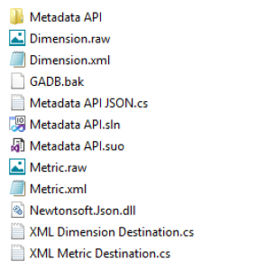SSIS Google Analytics MetaData