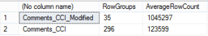 Compare Columnstore Table RowGroups & Their Rows