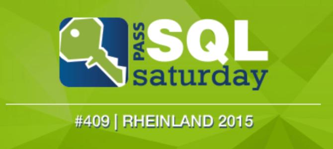 Speaking at SQLSaturday Rheinland, Germany 2015