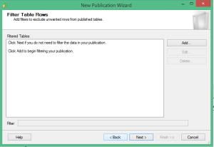 T-Repl Publishing Filters