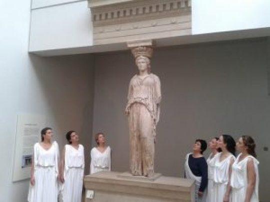 Σόνια Θεοδωρίδου, Ελληνίδες Καρυάτιδες, Λονδίνο, British Museum