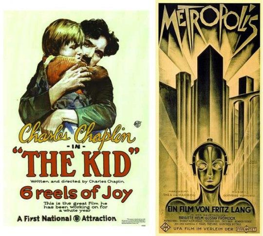 1921: TheKid Ο Chaplin πέρασε ένα ολόκληρο χρόνο για να τελειώσει αυτήν την σπουδαία κωμωδία και η αφίσα έκανε άψογη δουλειά. 1927: Metropolis Ίσως η καλύτερη αφίσα όλων των εποχών στο σινεμά για πολλούς, που μένουν κατάπληκτοι κοιτώντας την ακόμα και σήμερα, 85 χρόνια μετά την έκδοση της. Τόσο, μα τόσο μοντέρνα!