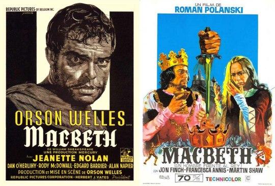 1948 Orson Welles και δεξιά 1971 σκηνοθεσία Roman Polanski