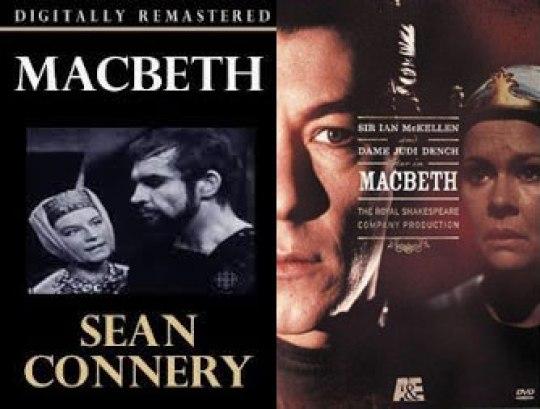 1961 Ο Sean Connery για την τηλεόραση και 1978 η θεατρική παράσταση του Royal Shakespeare Company με τον Ian McKellen και την Judi Dench σε video.