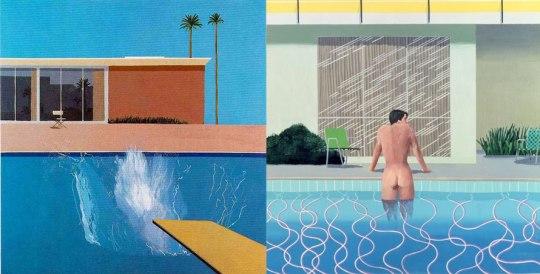 Δύο έργα του David Hockney. Μανία με τις πισίνες