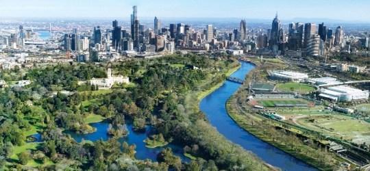 Melbourne-_skyline_river_