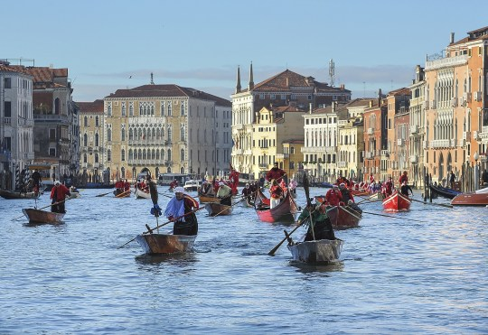 The Befana Regatta On The Grand Canal