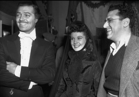 Clark-Gable-Vivien-Leigh-and-producer-David-Selznick-on-the-set-of-Gone-With-The-Wind-1939