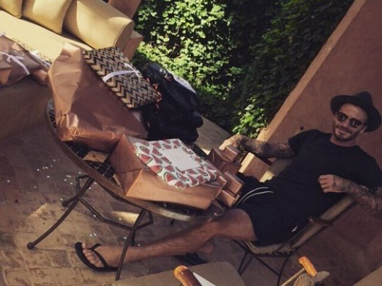 David Beckham, instagram, ΓΕΝΕΘΛΙΑ, 40 ΧΡΟΝΩΝ, ΝΤΕΙΒΙΝΤ ΜΠΕΚΑΜ, ΜΑΡΟΚΟ, Birthday, nikosonline.gr