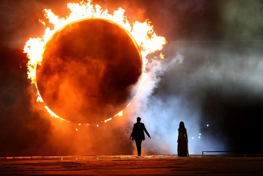 during the Opening Ceremony for the Baku 2015 European Games at the National Stadium on June 12, 2015 in Baku, Azerbaijan.
