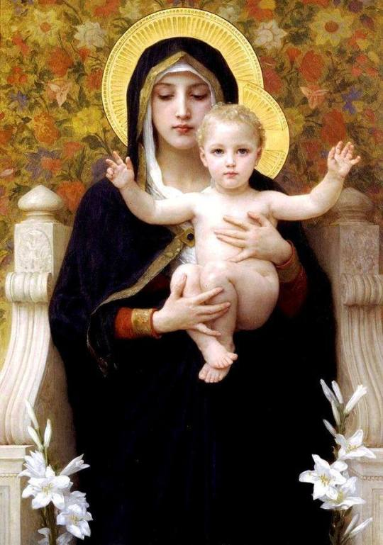 10_William-Adolphe Bouguereau, Virgin of the Lilies, 1899.