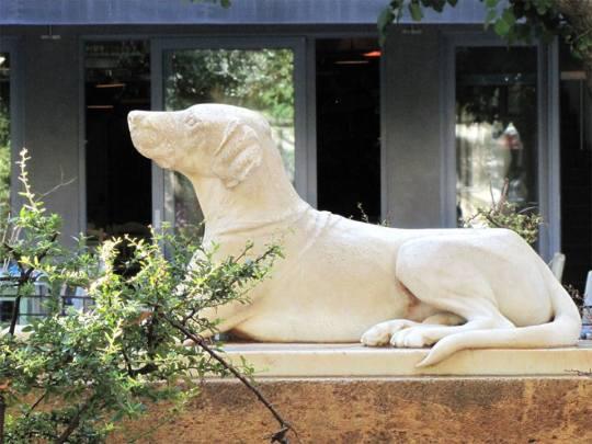 """Σκυλί, σκυλάκι, Φωκίωνος Νέγρη, Κυψέλη, γλυπτό, dog, Kypseli, """"Λαγωνικό Σκυλί"""", Ευριπίδηw Βαβούρηw, nikosonline.gr"""