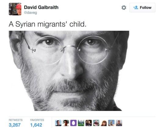 ct-steve-jobs-syria-migrant-tweet-0903-bsi