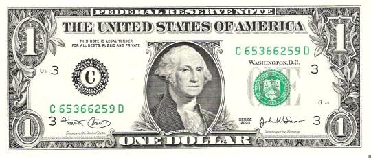 George Washington on One Dollar - Astakos Primary School