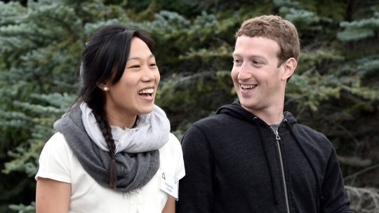 epa04868118 (FILE) A file picture dated 11 July 2013 of Mark Zuckerberg (R), chief executive officer and founder of Facebook Inc., and wife Priscilla Chan (L) attending Allen and Company 31st Annual Media and Technology Conference, in Sun Valley, Idaho, USA. The couple is expecting a baby girl, Zuckerberg annouced on 31 July 2015 on his Facebook site. EPA/ANDREW GOMBERT *** Local Caption *** 50914547