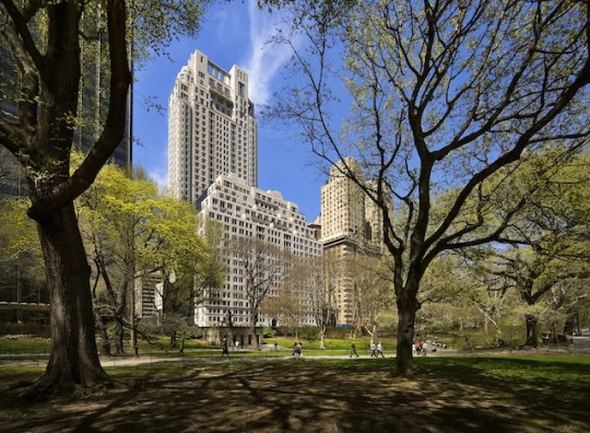 """15 Central Park West, Location: New York NY, Architect: Bob Smith. 15 CPW is composed of two buildings joined by a lavish lobby. The """"House"""" side fronts Central Park and the """"Tower"""" side rises behind to more than 40 stories."""