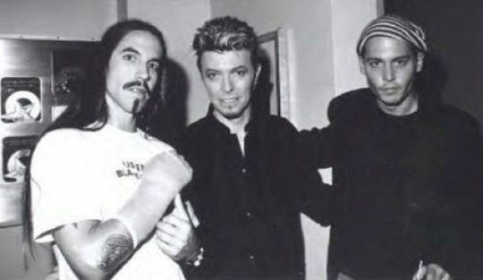 Gatherings of friends - Anthony Kiedis , Bowie & Johnny Depp.