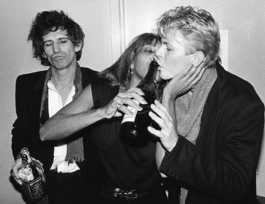Keith Richards, Tina Turner, and David Bowie 70364
