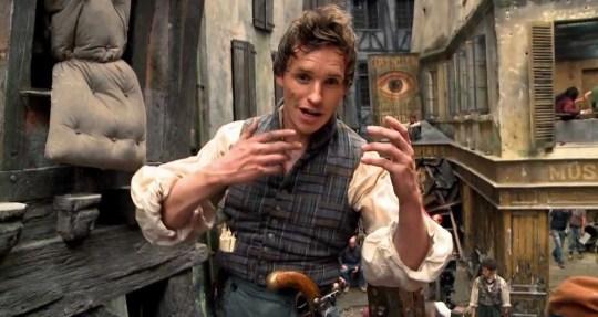 Eddie Redmayne As Marius in movie Les Miserables