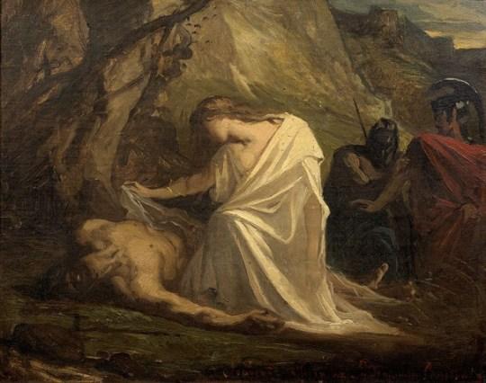 Η ειρηνοποιός Αντιγόνη του Σοφοκλέους.
