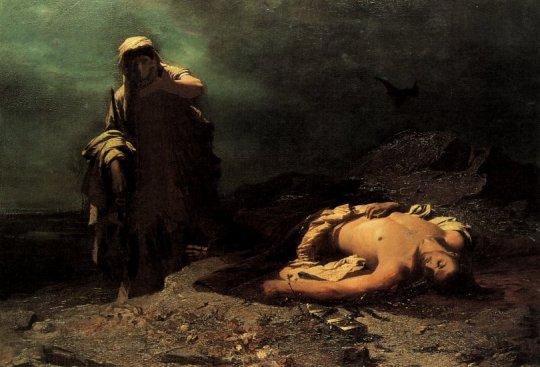 Νικηφόρος Λύτρας, Η Αντιγόνη εμπρός στο νεκρό Πολυνείκη (1865).