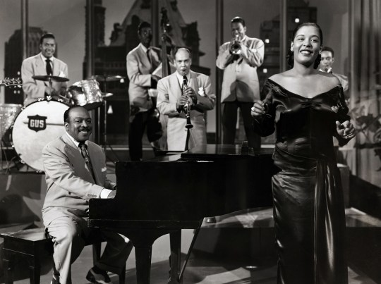 American jazz musician Count Basie, Billie Holiday