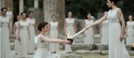 Αρχαία Ολυμπία, Αφή της Ολυμπιακής Φλόγας