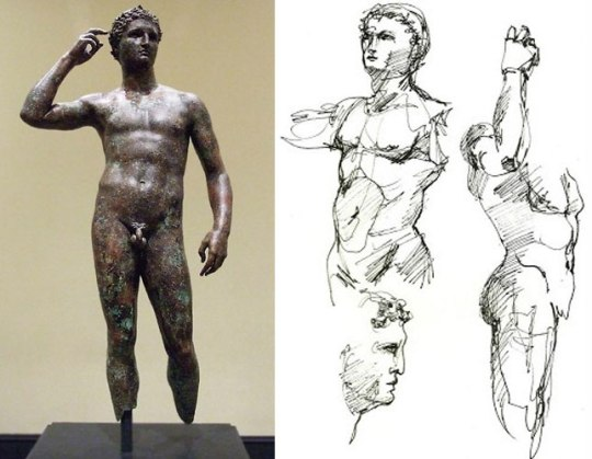 Victorious Youth, Getty Museum, Italy, Greek statue, nikosonline.gr