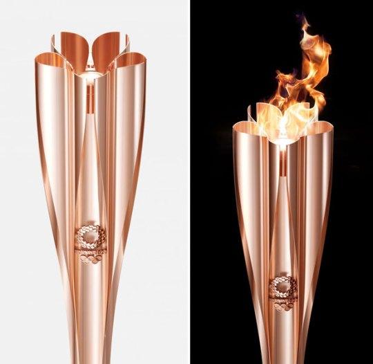 Ολυμπιακοί Αγώνες 2020, Δάδα Ολυμπιακής φλόγας, Japanese cherry blossoms, Tokyo 2020, Olympic games, torch design, nikosonline.gr