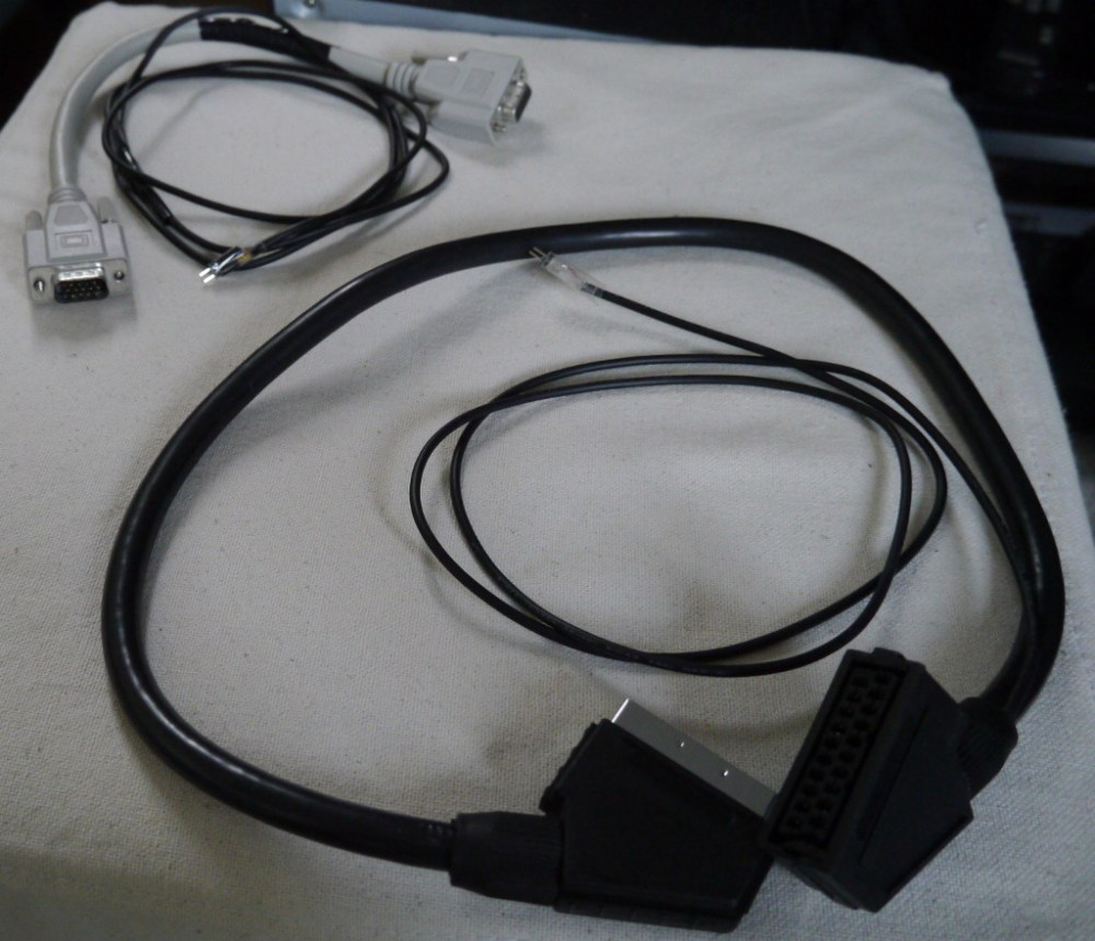 medium resolution of the ldr placed in a plastic case vga scart extension cables with probe wires