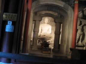 Verbotenes Foto: Bonjonbul-Statue in der Seokguram-Höhle