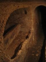 St. Paul's Catacombs: Loculi-Grab mit Kopfstütze
