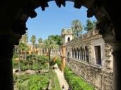 in den Gärten Jardines del Real Alcázar