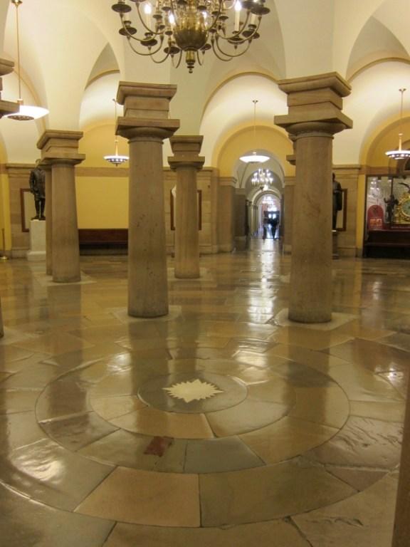 der Punkt im Capitol, nach welchem Washingtons Straßennamen ausgerichtet sind