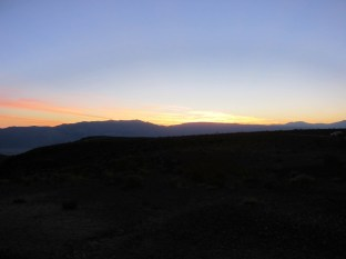 Sonnenaufgang in den Panamint Mountains