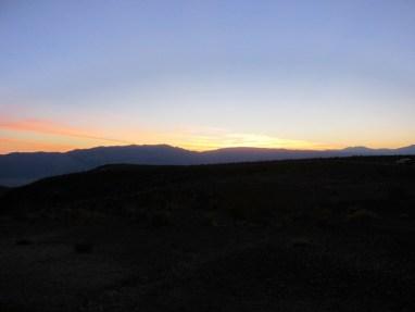 Sonnenaufgang in den Panamint Mountains