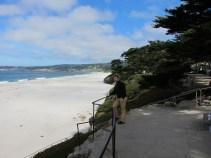 Carsten am Strand von Carmel