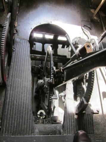 Wie in den alten Malta-Bussen - offener Blick in die Technik