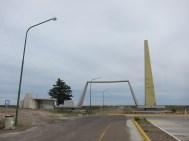 Kein osteuropäischer Grenzübergang, sondern das Besucherzentrum Istmo Ameghino